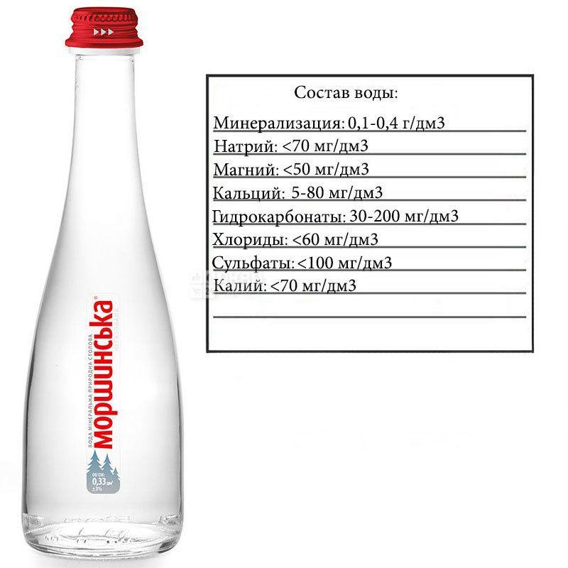 Моршинская Premium, 0,33 л, Вода минеральная негазированная, стекло