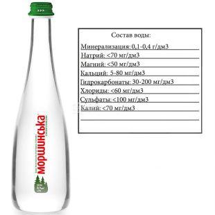 Morshynska, 0.5 l, Lightly carbonated water, Premium, glass, glass