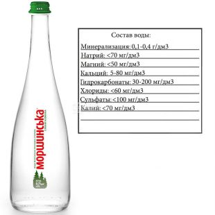 Morshynska, 0,75 l, Lightly carbonated water, Premium, glass, glass