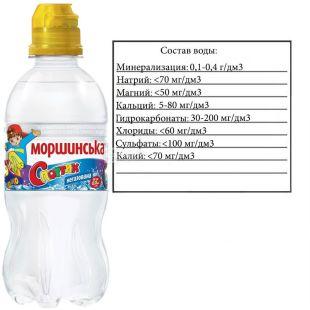Моршинська Спортик, 0,33 л, Вода негазована, з дозатором, ПЕТ, ПЕТ