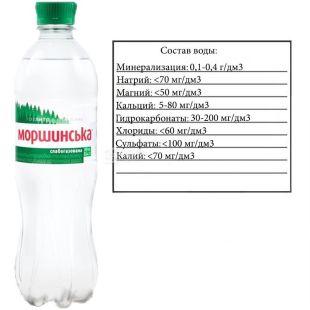 Моршинская, 0,5 л, Вода минеральная слабогазированная, ПЭТ