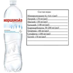 Моршинская, 1,5 л, Вода минеральная негазированная, ПЭТ