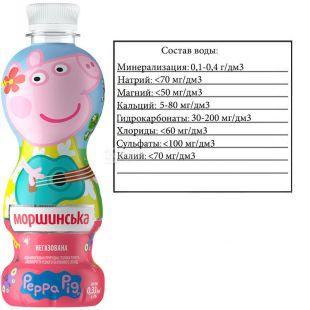 Morshynska, Non-carbonated mineral water, Peppa Pig, 0.33 l, PAT