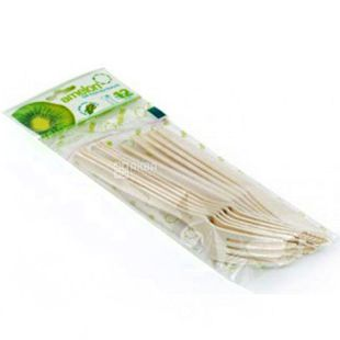Amelon, Set of Bio Forks and Knives, Corn Starch, 6 pcs.