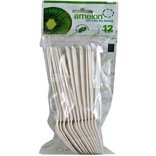 Amelon, Bio Spoon Set, Corn Starch, 12 pcs.