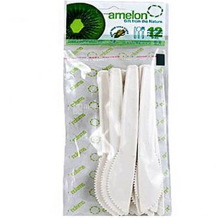 Amelon, Bio Knife Set, Corn Starch, 12 pcs.