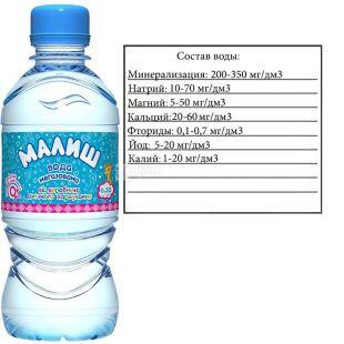 Малиш, 0,33 л, Вода дитяча негазована, з перших днів життя, ПЕТ, ПЕТ