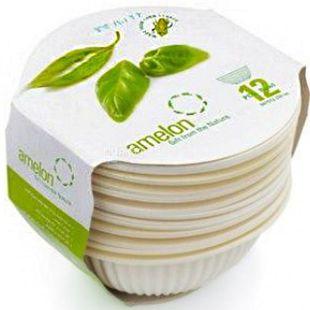 Amelon, Bio Saucer Set, 350 ml, round, corn starch, 12 pcs.