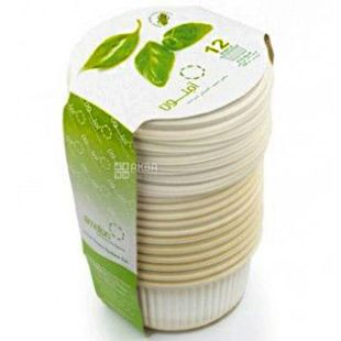 Amelon, Bio Salad Bowl Set, 300 ml, with lids, corn starch, 12 pcs.