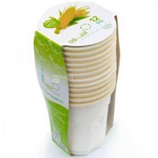 Amelon, Набір стаканів Біо, 200 мл, із кукурудзяного крохмалю, 12 шт.
