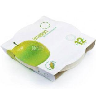 Amelon, Набір тарілок для фруктів Біо, із кукурудзяного крохмалю, 12 шт.