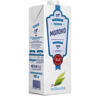 Милкавита, 1л, 3,2%, Молоко Белорусское отборное ультрапастеризованное