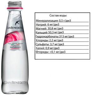 San Benedetto, Still Water, 0.25 L, glass, glass