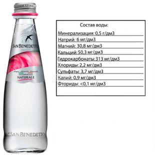 San Benedetto, Still Water, 0.5 L, glass, glass