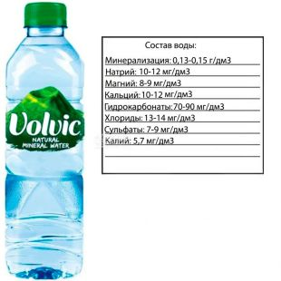 Volvic, non-carbonated mineral water, 0.5 l, PAT