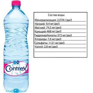 Contrex, 1,5 л, Контрекс, Вода мінеральна лікувально-столова негазована, ПЕТ