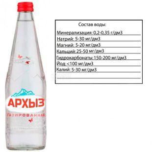 Архиз, 0,5 л, Вода мінеральна газована, скло