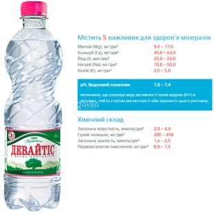 Devaytis, 0.5 l, Lightly carbonated water, PET, PAT