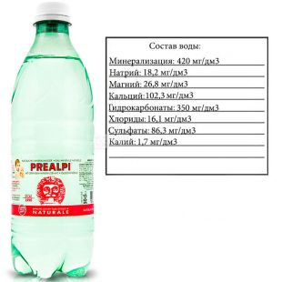 Fonti Prealpi, 0,5 л, Фонти Преалпи, Вода минеральная, негазированная, ПЭТ