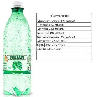 Fonti Prealpi, 0,5 л, Фонті Преалпі, Вода мінеральна газована, ПЕТ