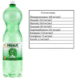 Fonti Prealpi,1,5 л, Фонти Преалпи, Вода минеральная, газированная, ПЭТ