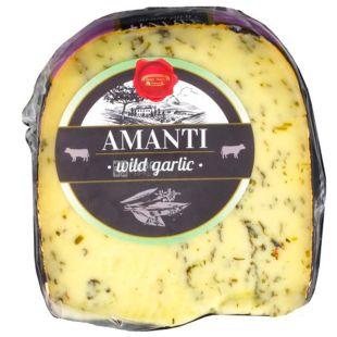 Basiron Daily Dairy Amanti, 200 г, Сыр Базирон Гауда голландский сычужный с чесноком, зрелый, 50%
