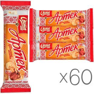 Svitoch, 80 g, Artek Waffles, with the taste of melted milk, 60 PCs. in a package