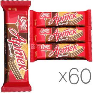 Свиточ, упаковка 60 шт., по 80 г, Вафли Артек, со вкусом шоколада