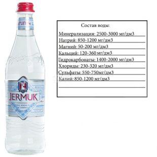 Jermuk Mountain 0.5 L, Still Water, Glass, glass