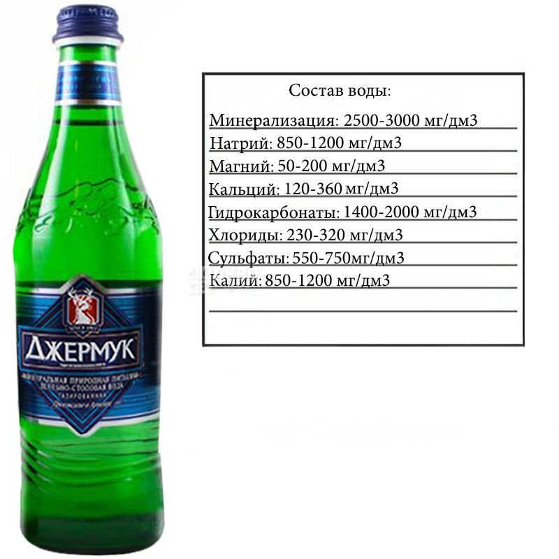 Jermuk, 0.5 l, Highly carbonated water, Mineral, glass, glass