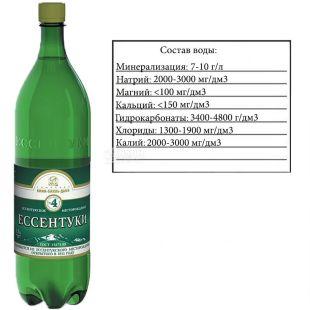 Essentuki 4, 1.5 l, Soda water, Mineral, PET, PAT