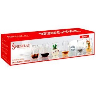 Spiegelau, Authentis Casual, 0,46 л, Шпігелау, Набір бокалів для води, 4 + 2 шт.