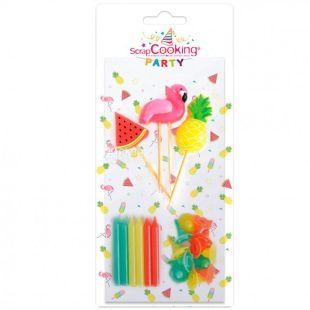 ScrapCooking, Party, Cake Candle Set, Summer, 15 pcs.