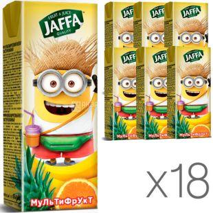 Jaffa, упаковка 18 шт., по 0,2 л, Джаффа, Нектар Миньоны, Мультифрукт