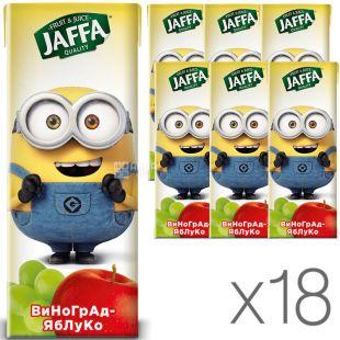 Jaffa, упаковка 18 шт., по 0,2 л, Джаффа, Нектар Миньоны, Виноградно-яблочный