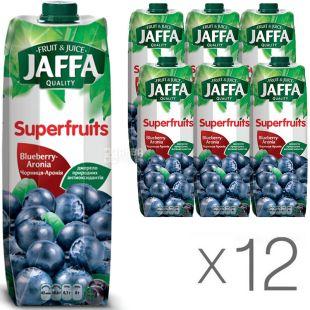 Jaffa, Superfruits, Черника-Арония, упаковка 12 шт., по 0,95 л, Джаффа, Сок натуральный