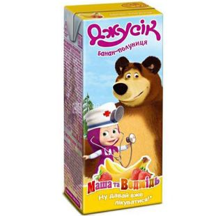 Jusik, Masha and the Bear, 0.2 L, Nectar Banana-Strawberry