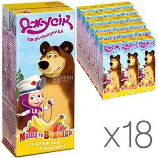 Jusik, 0.2 l, Masha and Bear nectar, Banana-strawberry, 18 PCs. per pack