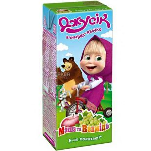 Jusik, Masha and the Bear, 0.2 L, Nectar Apple and Grape