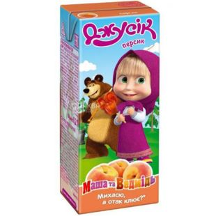 Jusik, Masha and the Bear, 0.2 L, Peach Juice
