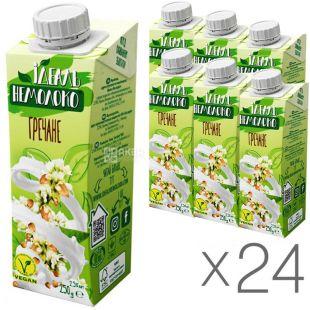 Идеаль Немолоко, 250 г, Напиток гречневый, 2,5%, Упаковка 24 шт.