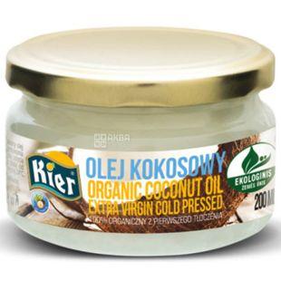 Kier, 200 мл, Кієр, Масло кокосове, холодного віджиму, органічне