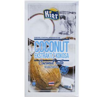 Kier, 1 л, Киер, Молоко кокосовое, 17%