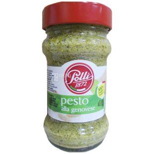 Polli, Pesto Senza Aglio, 190 г, Полли Песто Дженовезе, Соус без чеснока