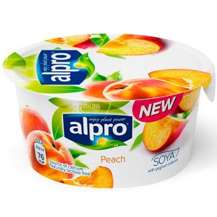 Alpro, 150 g, Soy yogurt with peach, 3%