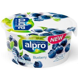 Alpro, Blueberry, 150 г, Алпро, Соєвий йогурт з чорницею, 3%