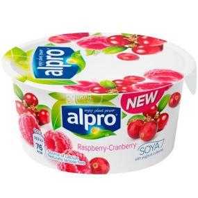 Alpro Yogurt Raspberry Cranberry, 150 г, 3%, Алпро с малиной и клюквой Соевый йогурт
