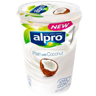 Alpro, 500 g, Soy yogurt with coconut, 3%