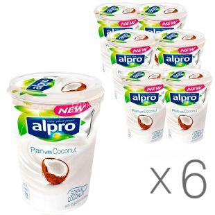 Alpro, Coconut, упаковка 6 шт., по 500 г, Алпро, Соєвий йогурт з кокосом, 3%