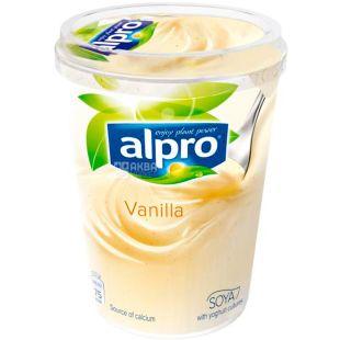 Alpro Vanilla soya yogurt, 500 г, Алпро, Соєвий йогурт з ваніллю, 3%